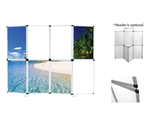 Folding Panel Display White Board Folding
